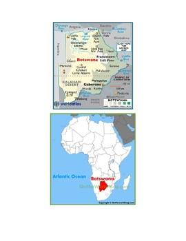 Botswana Map Scavenger Hunt