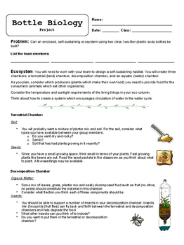 Bottle Biology Project