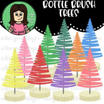 Bottle Brush Tree Clip Art