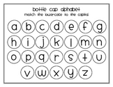 Bottle Cap Alphabet Capital and Lowercase Match