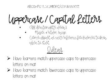 Bottle Cap Alphabet Mats