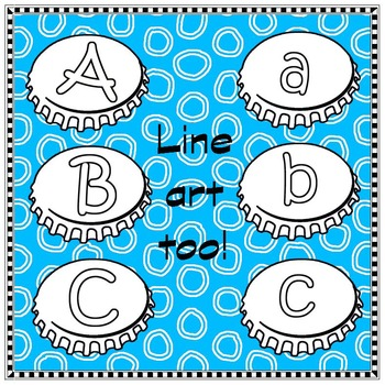 Bottle Cap Bonanza - (letters, numbers & blanks)