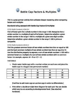 Bottle Cap Factors and Multiples
