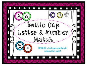 Bottle Cap Letter and Number Match