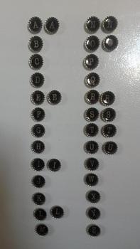 Bottle Cap Magnets - Typewriter Key theme