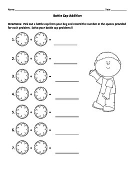 Bottle Cap Math Activities