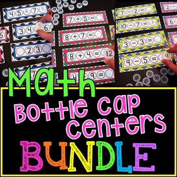 Bottle Cap Math Centers BUNDLE