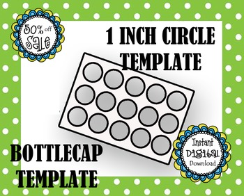 bottle cap template make your own by dazzlindezignz tpt