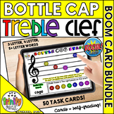 Bottle Cap Treble Clef Staff - Boom Card BUNDLE