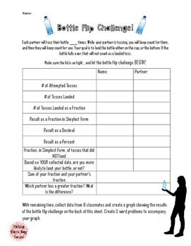 Bottle Flip Challenge- Fractions