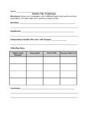 Bottle Flip STEAM Challenge Data Collection Sheet