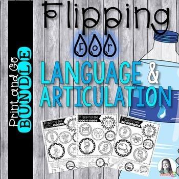Bottle Flipping Challenge Bundle for Language & Articulation