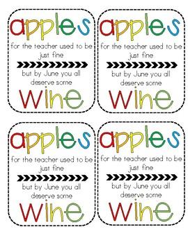 Bottle Labels for Teachers