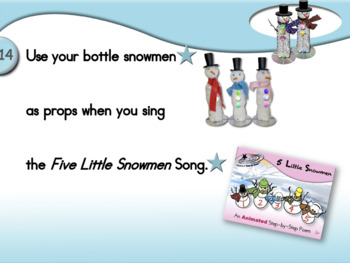 Bottle Snowmen - Animated Step-by-Step Craft
