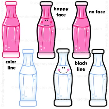 Bottles of Soda Pop Clipart