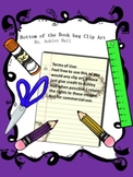 Bottom of the Book Bag Clip Art