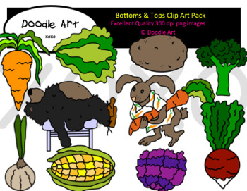 Bottoms and Tops Clipart Pack