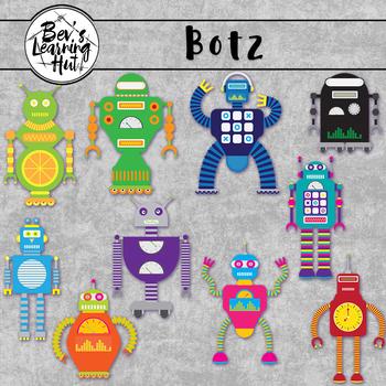 Robots Clipart Set