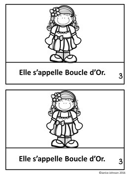 Boucle D'or ~ Simplified French Goldilocks Reader