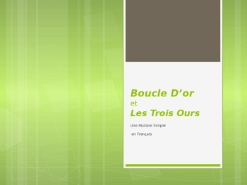 Boucle d'Or/Goldilocks and the 3 Bears in French ~ a Short Chapter Book