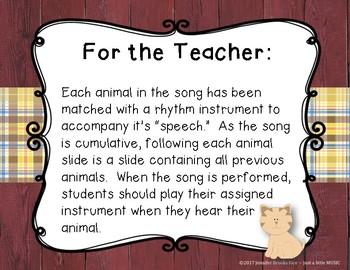 Bought Me a Cat -- A Folk Song w/ instrument accompaniment {ta titi rest ta-a}
