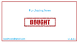Bought v1.0.0.1 - Purchasing form