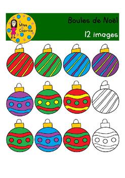 Boules de Noël - Clip arts