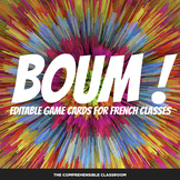 Boum ! game for French classes - Editable game card template