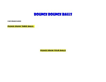 Bounce Bounce Balls Math And Colors Worksheet