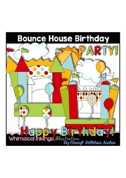 Bounce House Birthday Clipart Collection