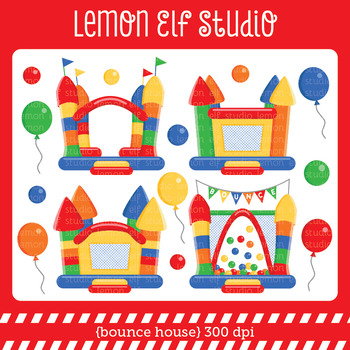 Bounce House-Digital Clipart (LES.CL62A)