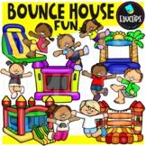 Bounce House Fun Clip Art {Educlips Clipart}