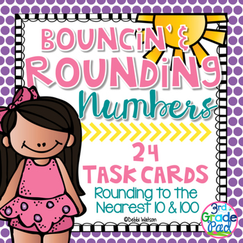 Rounding to Nearest 10 & 100 Task Cards