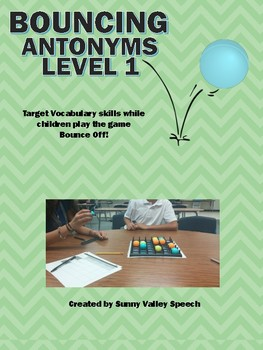 Bouncing Antonyms Level 1 and 2