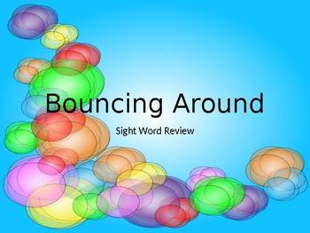 Bouncing Around Sight Word Practice
