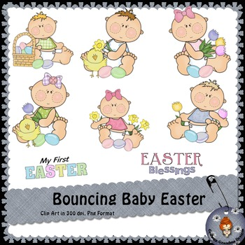 Bouncing Baby Easter Clipart