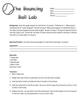 Bouncing Ball Lab