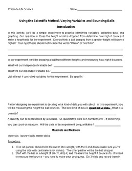 Bouncing Balls and Varying Variables:  Using the Scientific Method