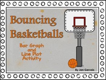 Bouncing Basketballs Bar Graph and Line Plot Activity