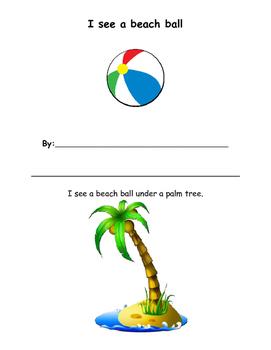Beach Spatial Concepts Activity Book