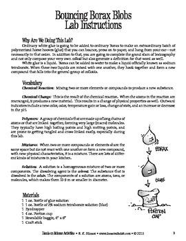 Bouncing Borax Blobs (Chemistry)