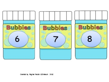 Bouncing Math Bubbles Addition/ Subtraction within 10 Common Core K.OA