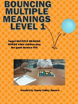 Bouncing Multiple Meaning Words Level 1 and 2