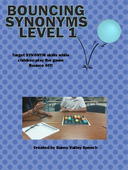 Bouncing Synonyms Level 1 and 2