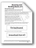 Bouncing and Bending Beams of Light/Rayos de la luz que re