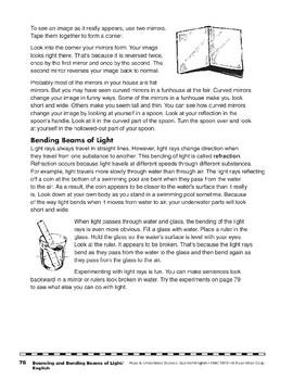 Bouncing and Bending Beams of Light/Rayos de la luz que rebotan y se doblan