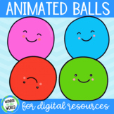 Bouncing animated bouncing ball GIFs for digital resources