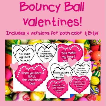 Bouncy Ball Valentines Day Tags! (An inexpensive Valentine's Day!)