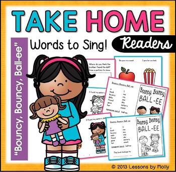 bouncy, bouncy, ball-ee read aloud printable booklet