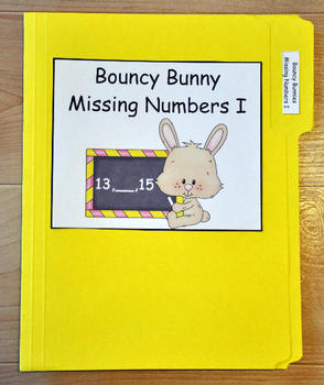 "File Folder Game--""Bouncy Bunny:  Fill in the Missing Number I"""